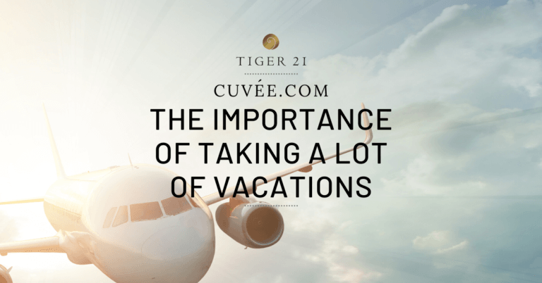THE IMPORTANCE OF TAKING A LOT OF VACATIONS