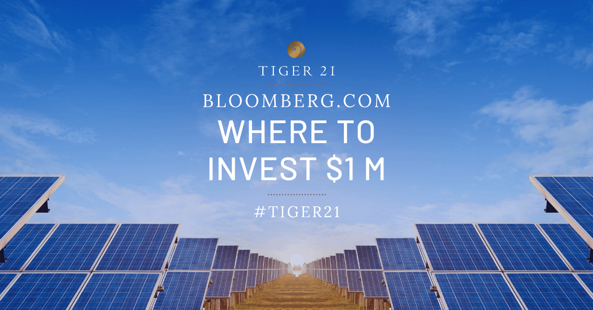 WHERE TO INVEST $1 MILLION RIGHT NOW IN THE GREEN ECONOMY