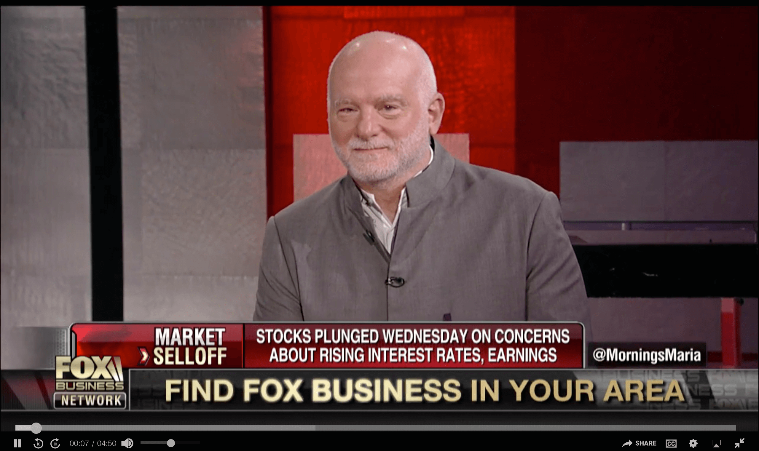 PART ONE: TIGER 21 FOUNDER DISCUSSES THE MARKET SELLOFF ON FOX BUSINESS