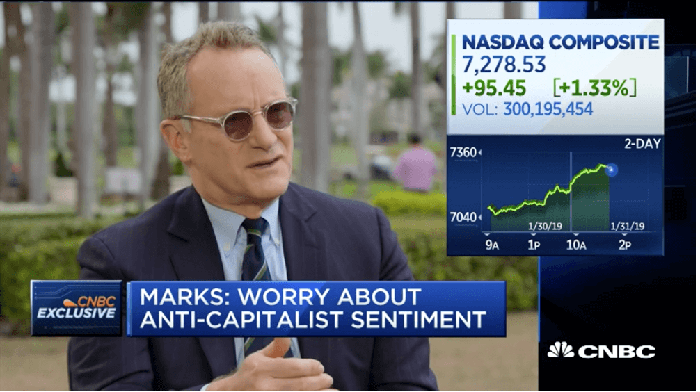 TIGER 21 ANNUAL CONFERENCE: CNBC INTERVIEW WITH HOWARD MARKS ON MARKET CYCLES