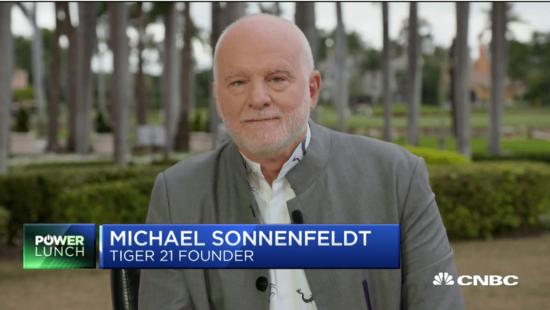 TIGER 21 ANNUAL CONFERENCE: CNBC INTERVIEW WITH TIGER 21 FOUNDER MICHAEL SONNENFELDT ON HOW THE ULTRA-WEALTHY INVEST